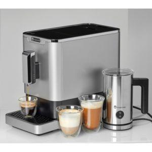 Espressorul automat cafea Studio Casa DIVA DE LUXE și un aparat de spumat lapte